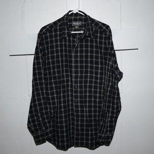 Eddie bauer mens shirt size L Tall J85